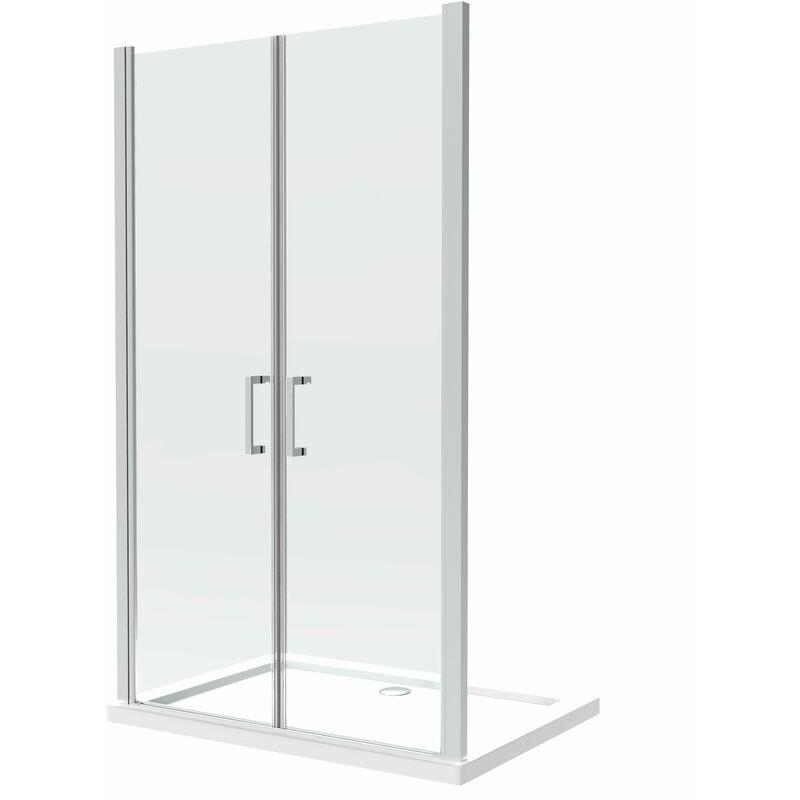 GIORGY Cabine de douche de 8 millimètres double vantail réversible sur la même
