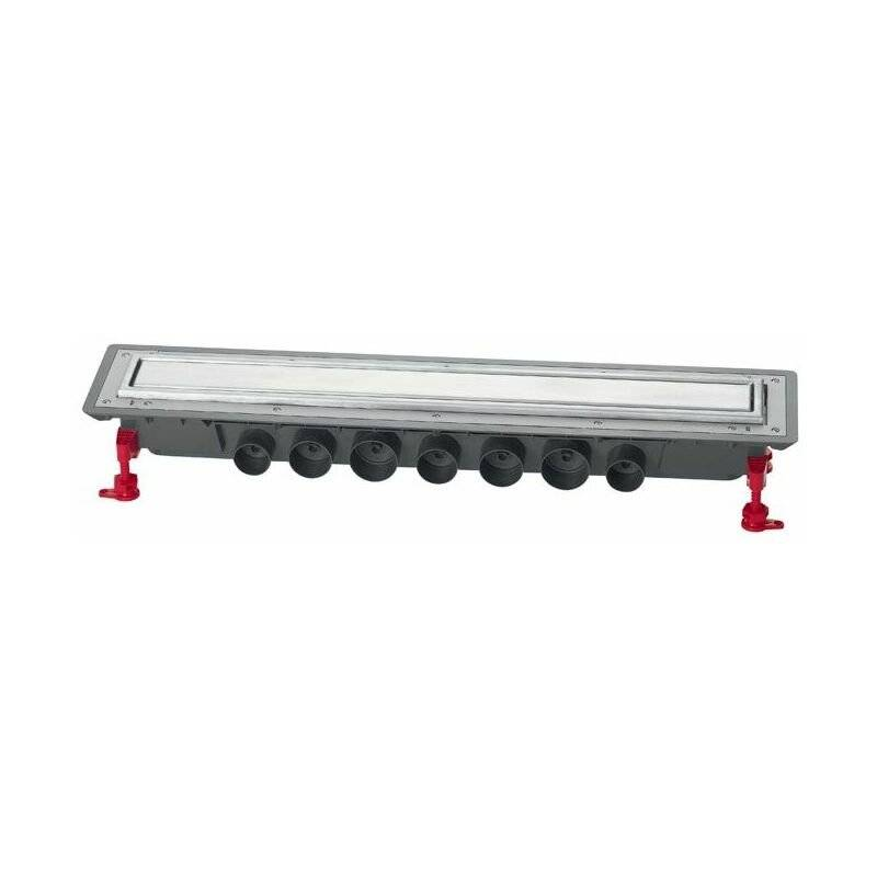 WIRQUIN Caniveau douche Venisio Expert Ht 89mm+Grille inox - 800mm