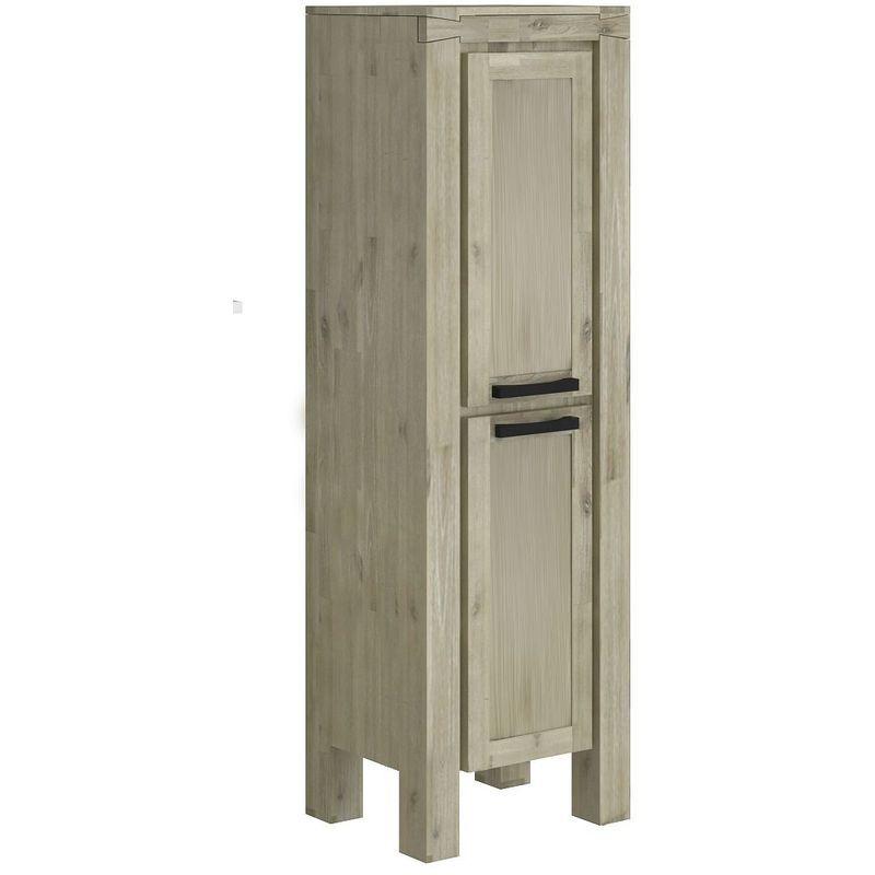 ALLIBERT Colonne de salle de bain à poser CHELSEA - 2 portes charnières droite à