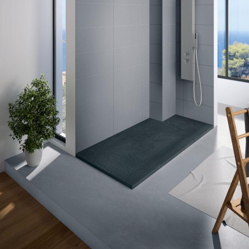 Kinedo - Receveur douche rectangle Kinerock, 160 x 90, Gris anthracite