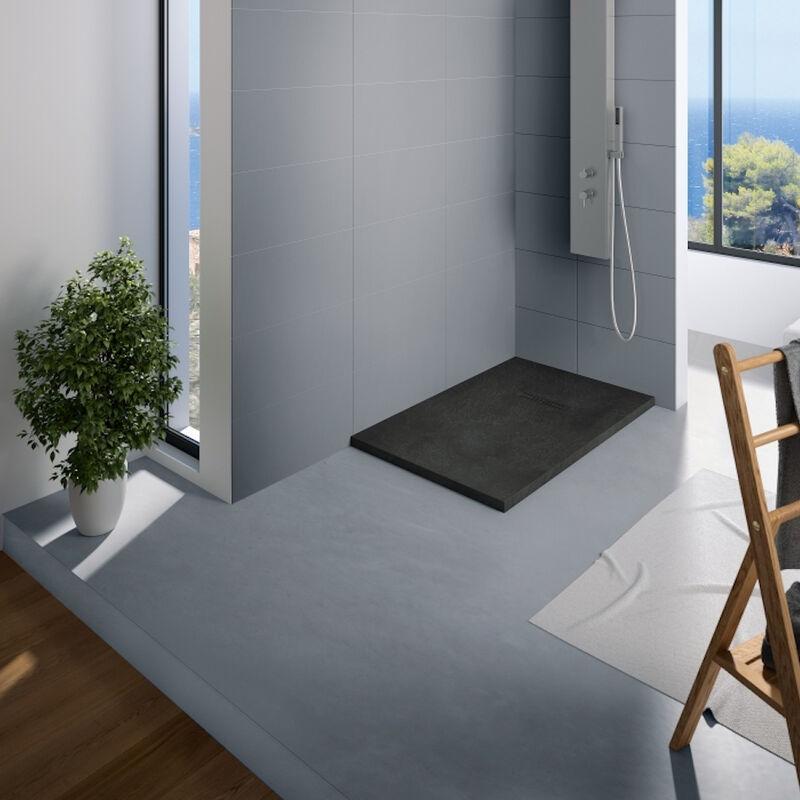 DBS BALNéO Kinedo - Receveur douche rectangle Kinerock, 160 x 90, Noir - Noir