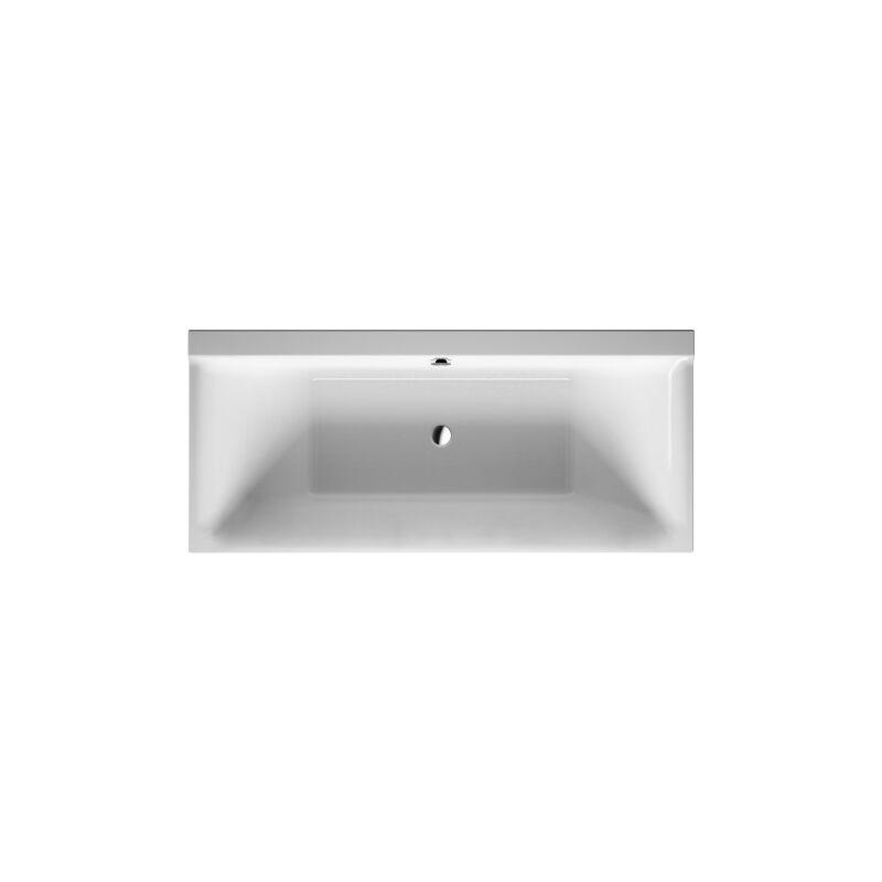 Duravit P3 Comforts baignoire rectangulaire, 180x80cm, deux pentes
