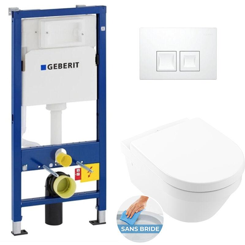 Geberit Pack WC Bâti UP100 + Cuvette Architectura sans bride fixations