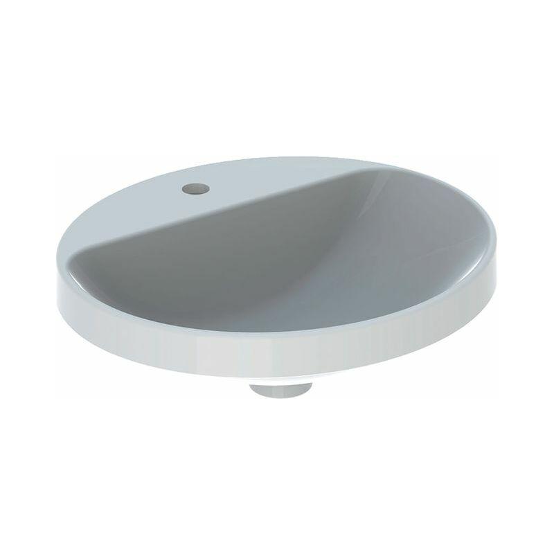 Keramag VariForm lavabo à encastrer ovale, 500x450mm, avec trou pour