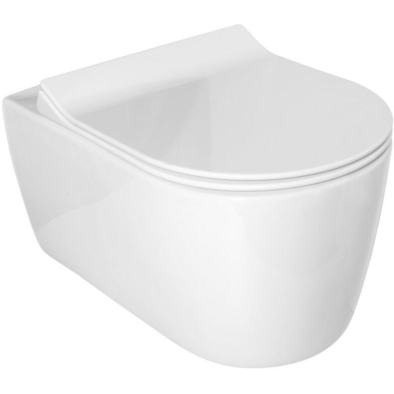 IDEVIT Alfa cuvette seule sans bride WC suspendu avec fixations invisibles