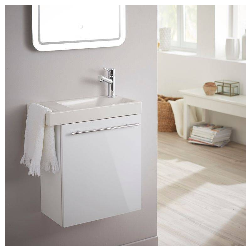 Planetebain Lave mains blanc pour wc avec robinet eau froide à droite