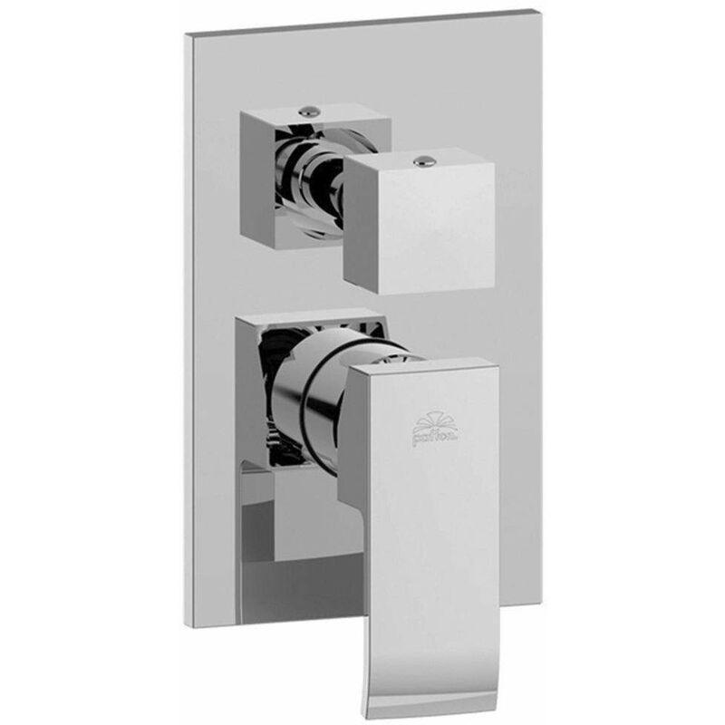 PAFFONI Mitigeur de douche à encastrer 3 voies Paffoni Level LES019   Chromé