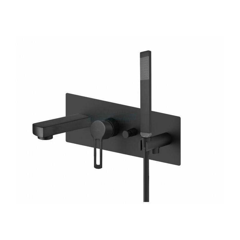 PAFFONI Mitigeur pour baignoire intégré Ringo - West RIN001 - WS001   Noir mat