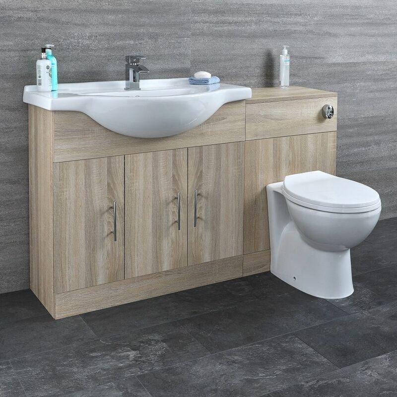HUDSON REED Meuble-lavabo & Toilette WC 85x78x48cm