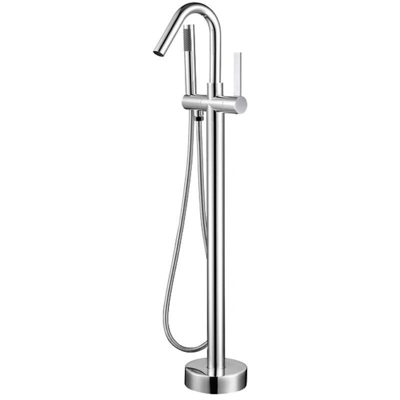 Kroos - Mitigeur baignoire de luxe sur pied avec douchette et flexible