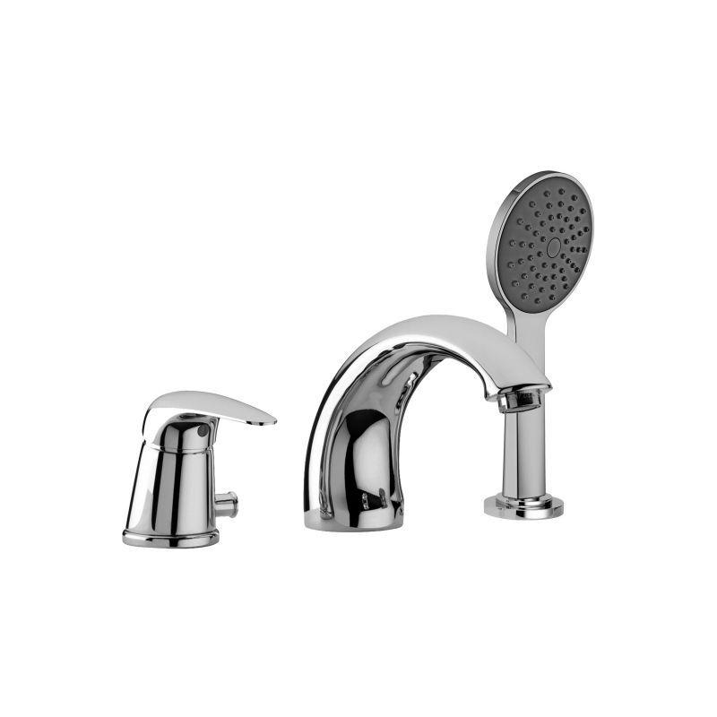 PAFFONI Mitigeur de baignoire avec déviateur et set de douche DU040CR-DU041CR