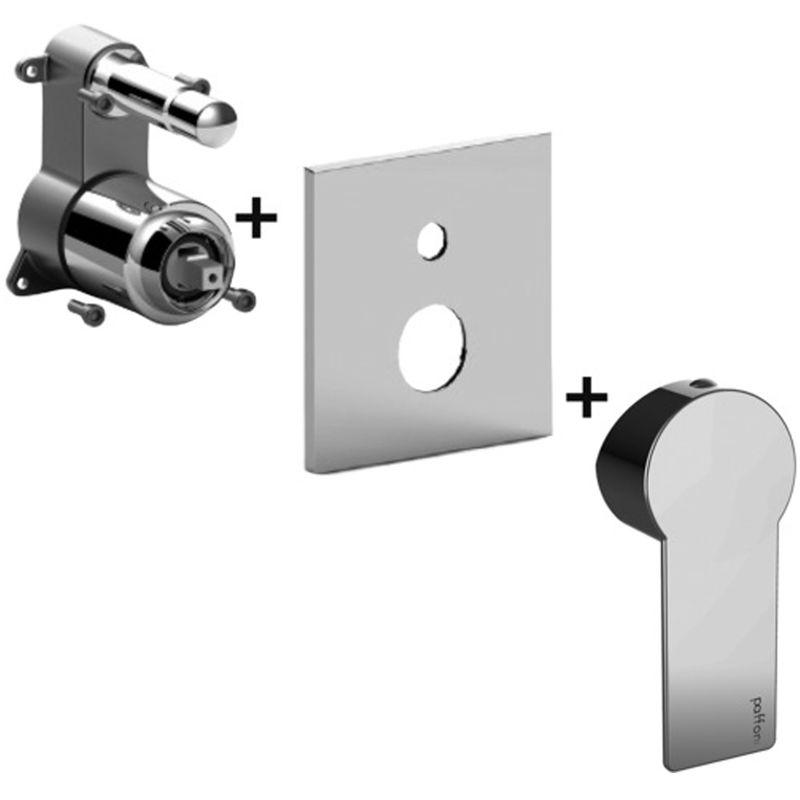PAFFONI Mitigeur douche encastré avec inverseur à bouton-poussoir TANGO