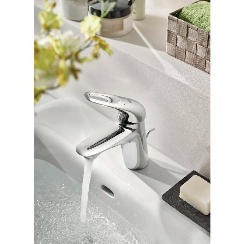 GROHE Mitigeur GROHE monocommande Lavabo Taille S Eurostyle Chrome,