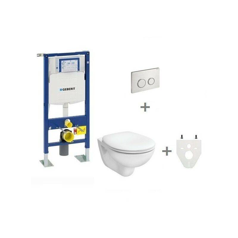 GEBERIT Pack WC suspendu Geberit autoportant   Abattant standard - Sigma20 inox