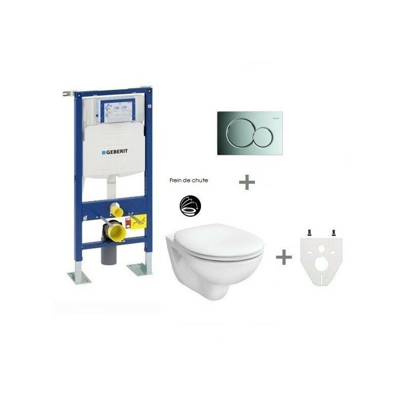 GEBERIT Pack WC suspendu Geberit autoportant   Sigma01 chromé brillant
