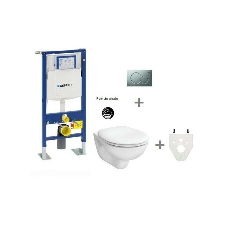 GEBERIT Pack WC suspendu Geberit autoportant   Sigma01 chromé mat - Abattant