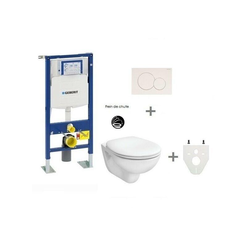 GEBERIT Pack WC suspendu Geberit autoportant   Sigma01 blanc - Abattant frein