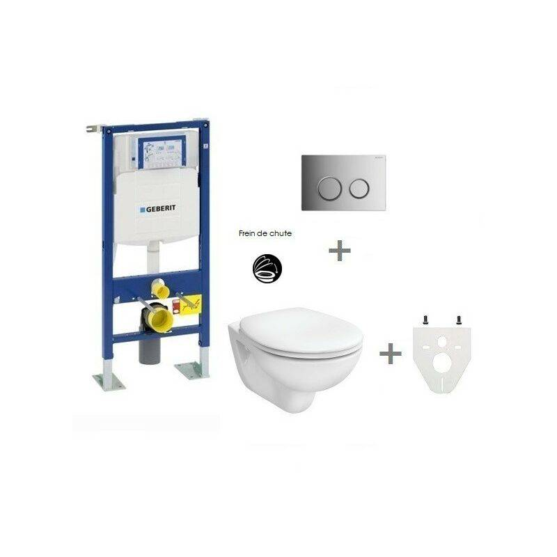 GEBERIT Pack WC suspendu Geberit autoportant   Sigma20 chromé brillant/mat