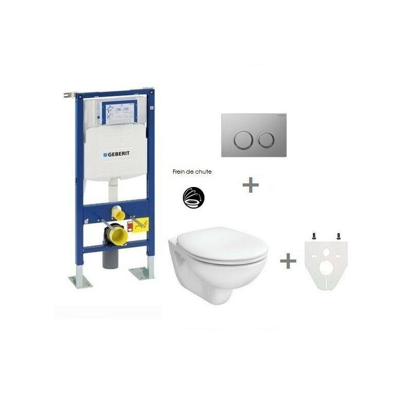 GEBERIT Pack WC suspendu Geberit autoportant   Sigma20 chromé mat/brillant