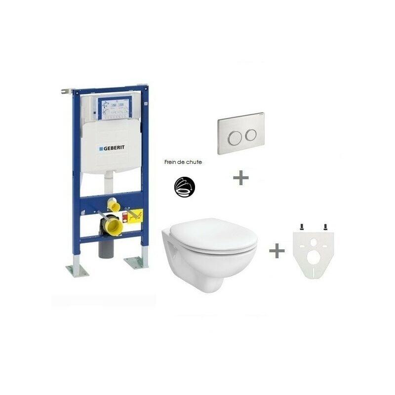 GEBERIT Pack WC suspendu Geberit autoportant   Sigma20 inox - Abattant frein de