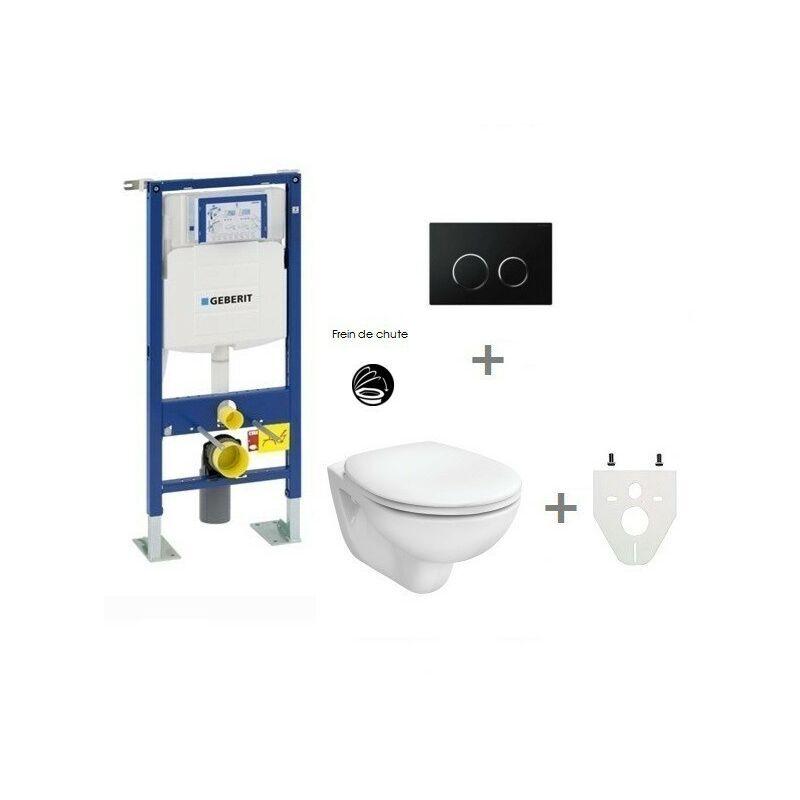 GEBERIT Pack WC suspendu Geberit autoportant   Sigma20 noir/chromé brillant