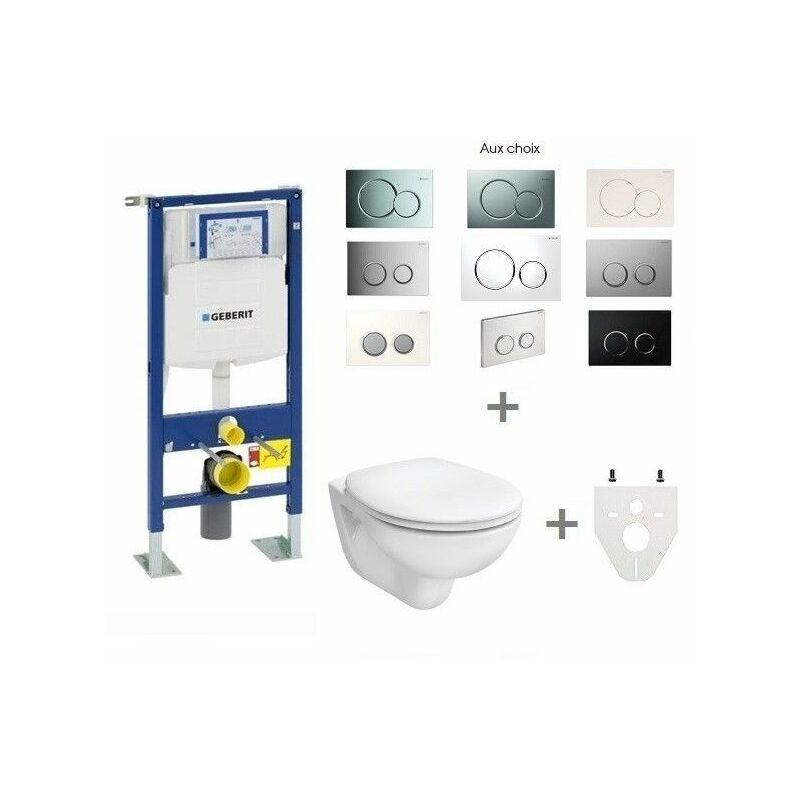 GEBERIT Pack WC suspendu Geberit autoportant   Abattant standard - Sigma01 blanc