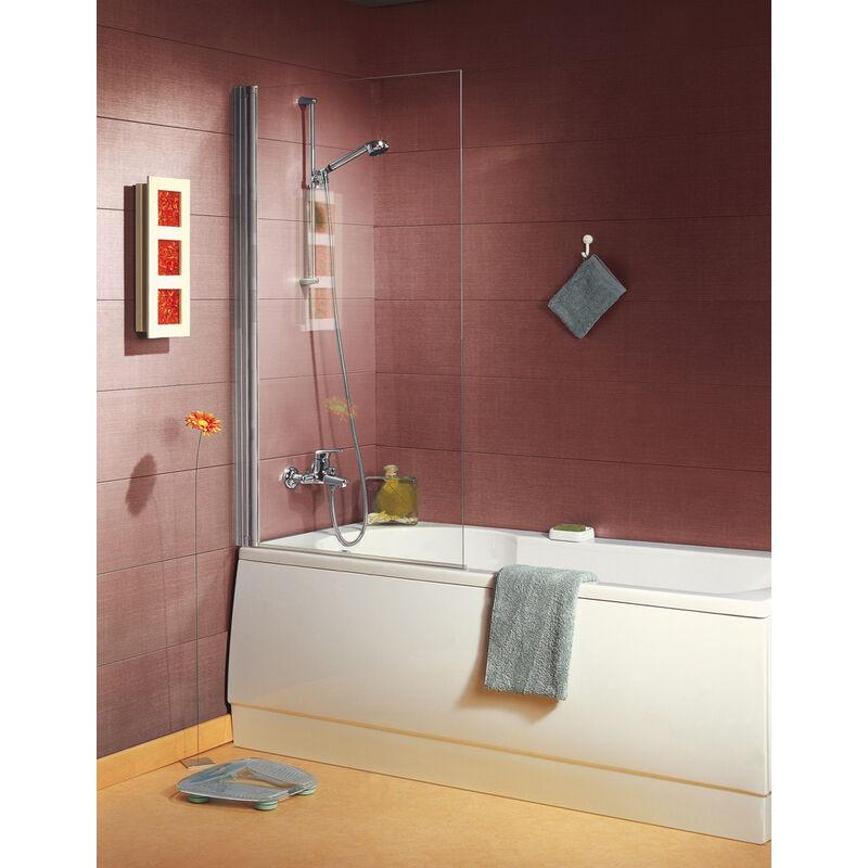 Anconetti - Pare-baignoire ANCOSWING, 1 volet pivotant en verre securit