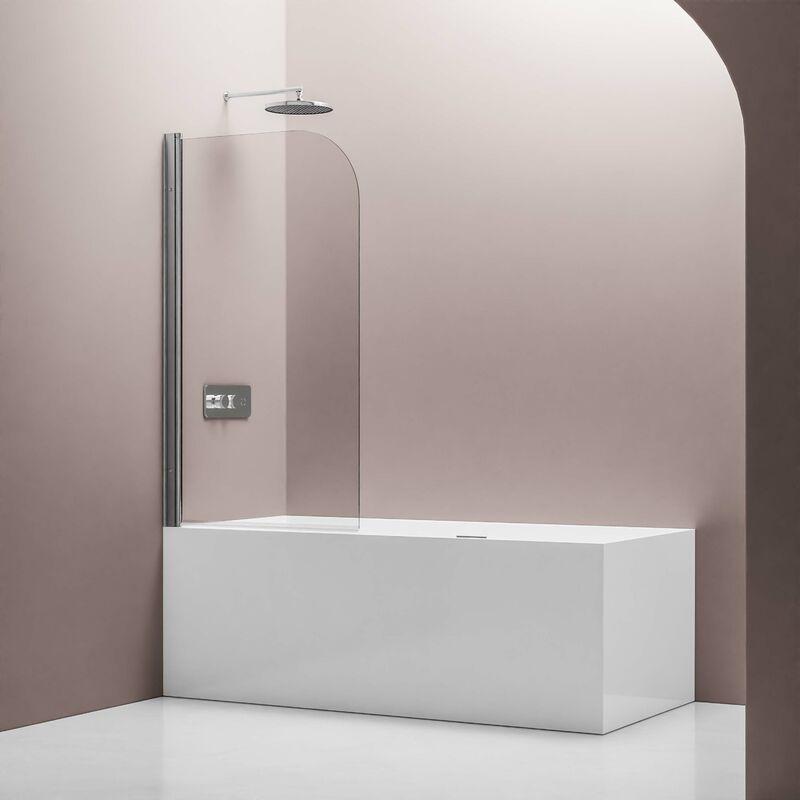 BERNSTEIN Pare baignoire en verre véritable NANO EX201 - 800 x 1400 x 6 mm