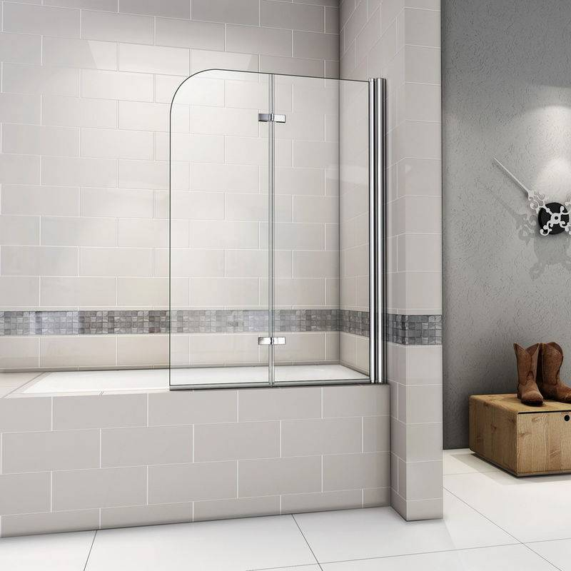 AICA SANITAIRE Pare baignoire 90x140cm pivotant 180degré; sanitaire paroi de baignoire