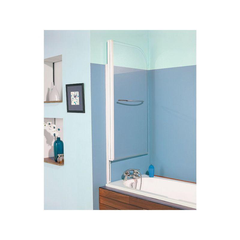 KINEDO Pare-baignoire relevable verre transparent - 1 ventail - 140 x 80 cm