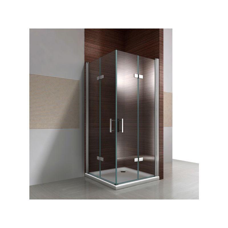 BERNSTEIN Paroi de douche avec porte pliante en verre NANO 8 mm DX213 - largeur