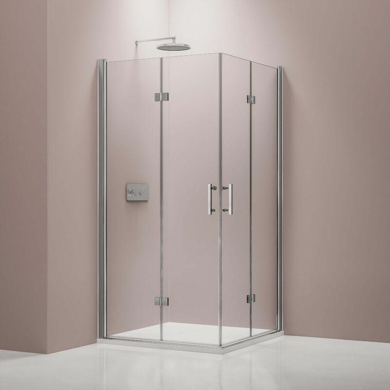 BERNSTEIN Paroi de douche porte pliante, en verre véritable NANO 6 mm, EX213 - 90