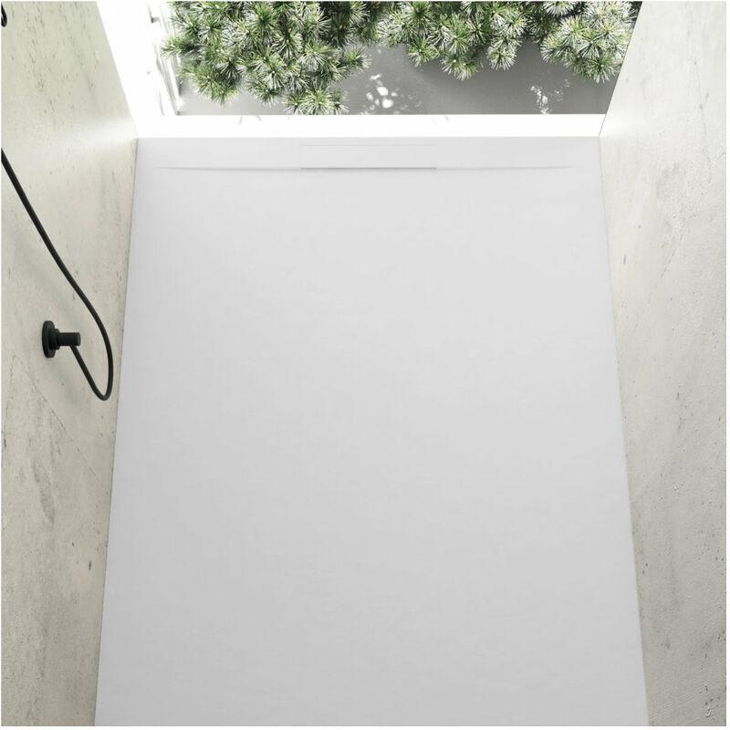 STANO. Receveur de douche 90 x 140 cm extra plat COVER en résine surface