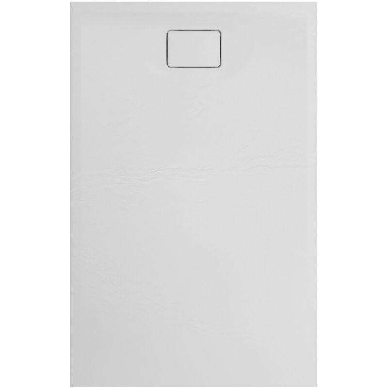 ALLIBERT Receveur de douche effet pierre Terreno 140 x 90 blanc - ALLIBERT