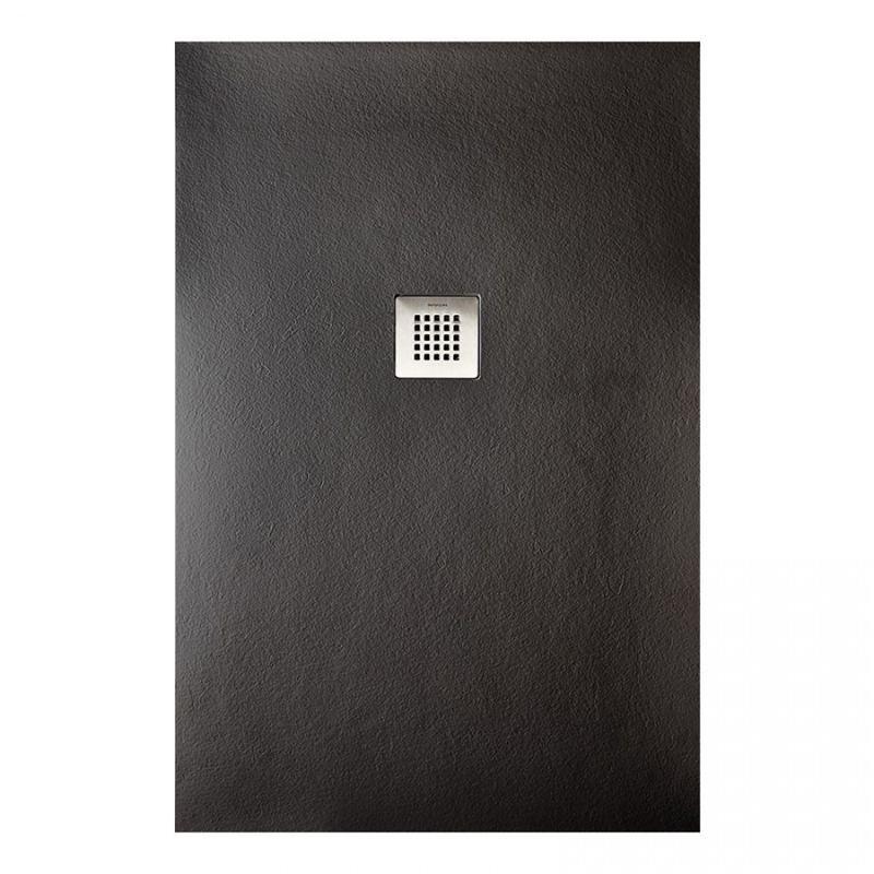 SANYCCES Receveur de douche rectangle noir Strato - 140 x 90 cm