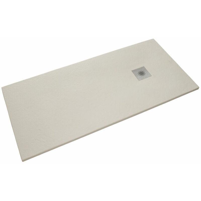 SIKO Receveur de douche rectangulaire Stone 160x90 cm marbre coulé blanc (