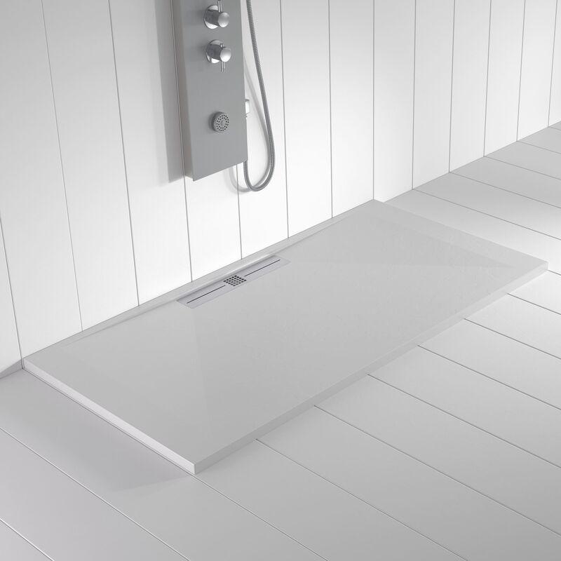 SHOWER ONLINE Receveur de douche Résine WIDE Blanc - 160x90 cm - SHOWER ONLINE