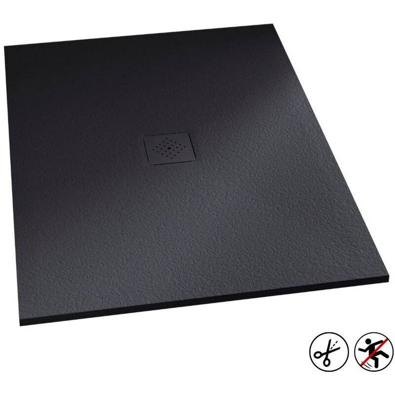 KINEDO Receveur douche Kinemoon, 140 x 90, gris anthracite, grille 1 - Kinedo
