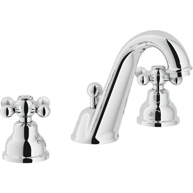 NOBILI Robinet pour lavabo 3 trous à double levier Grazia GRC50011/1   Chromé