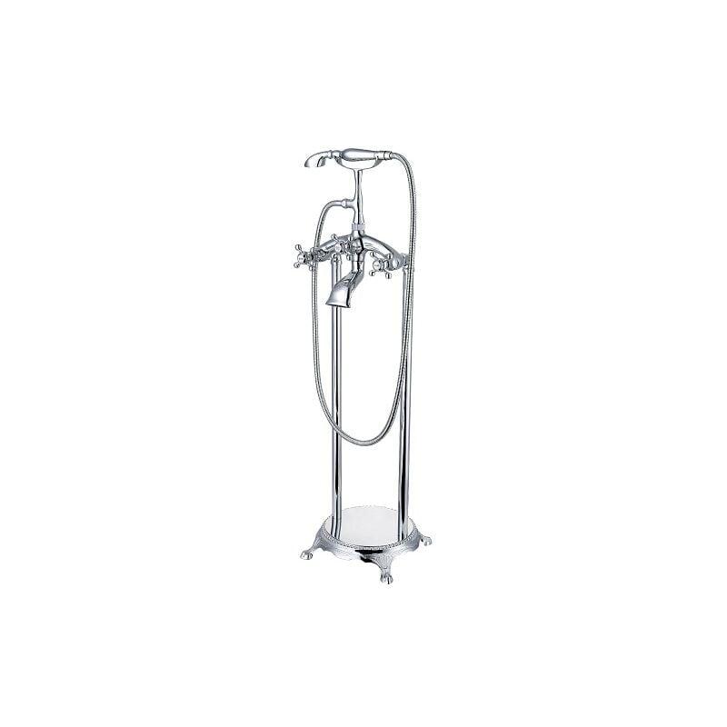 LOOKSHOP Robinet de baignoire sur pied moderne en laiton solide Chromé - LOOKSHOP