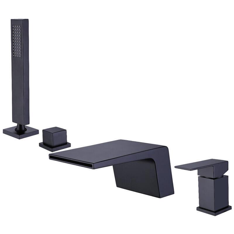KROOS® Robinet de baignoire sur plage sophistiqué avec douchette en laiton