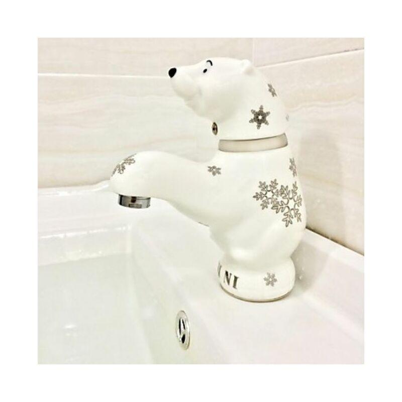 LOOKSHOP Robinet de lavabo en forme d'ours en céramique - LOOKSHOP