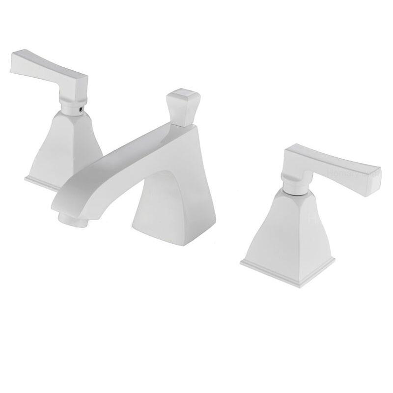 LOOKSHOP Robinet lavabo mélangeur moderne en laiton solide Blanc - LOOKSHOP