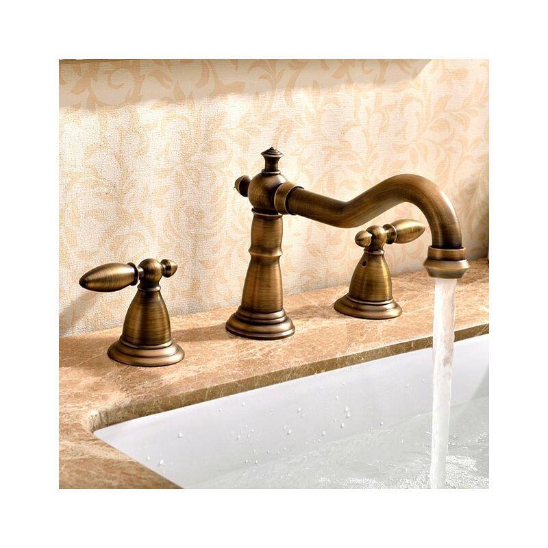KROOS Robinet lavabo mélangeur style rétro bronze - KROOS