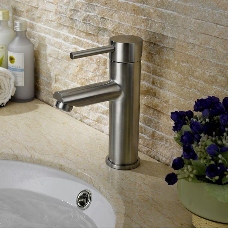 LOOKSHOP Robinet lavabo mitigeur moderne en acier inoxydable en nickel brossé