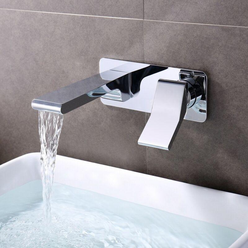 KROOS Robinet lavabo mural moderne en laiton solide - KROOS
