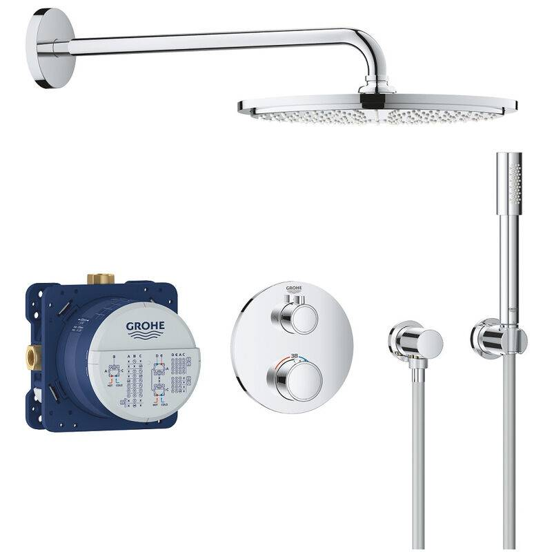 GROHE Mitigeur thermostatique douche Grohe Grohtherm Rainshower Cosmopolitan