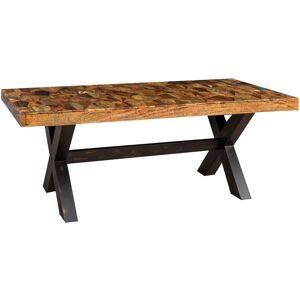 BISCOTTINI Table à manger Country Shabby rectangulaire ou carrée solide bureau - Publicité