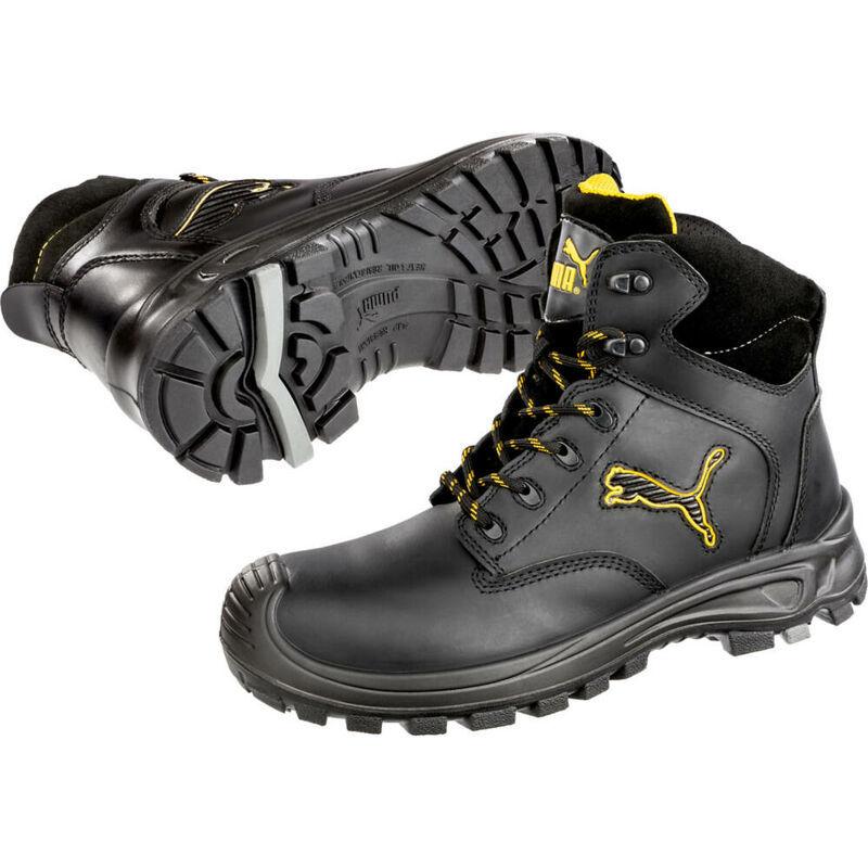 PUMA Chaussures de sécurité montante Puma Borneo Black Mid S3 SRC Noir 45