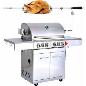 GREADEN BBQ Grill Barbecue À Gaz INOX DÖNER- 4 BRÛLEURS+ 1 KIT RÔTISSOIRE (1 - Publicité